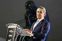 Miguel Angel Mancera (MEX) Mayor of Mexico City.<br /> Sahara Force India F1 Team Livery Reveal, Soumaya Museum, Mexico City, Mexico. Wednesday 21st January 2015.