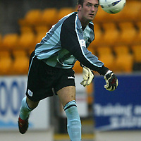 St Johnstone v Alloa..CIS Cup 1st Round...10.08.04<br />St Johnstone's new keeper Allan McGregor on loan from Rangers<br /><br />Picture by Graeme Hart.<br />Copyright Perthshire Picture Agency<br />Tel: 01738 623350  Mobile: 07990 594431