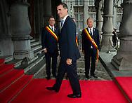 S.A.R. King Felipe VI: Lunch at the Provincial Palace during the Commemoration of the 100th anniversary of the First World War, in Liège, Belgium, on August 4, 2014.<br /> <br /> S.A.R. Le Roi Felipe VI d'Espagne: Lunch au Palais Provincial lors des comme´morations organise´es par le<br /> Gouvernement fe´de´ral belge a` l'occasion<br /> du Centième anniversaire de la<br /> Premie`re Guerre mondiale, à Liège, Belgique. 4 Août 2014.