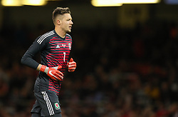October 11, 2018 - Cardiff City, Walles, United Kingdom - Cardiff, Wales October 11, ..Wayne Hennessey of Wales during Exhibition Match between Wales and Spain at Principality stadium, Cardiff City, on 11 Oct  2018. (Credit Image: © Action Foto Sport/NurPhoto via ZUMA Press)