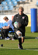 Lewis Moody of England warming up, during an England training session at Carisbrook in Dunedin, New Zealand. IRB Rugby World Cup 2011.Tuesday 6 September 2011. New Zealand. Photo: Richard Hood/photosport.co.nz