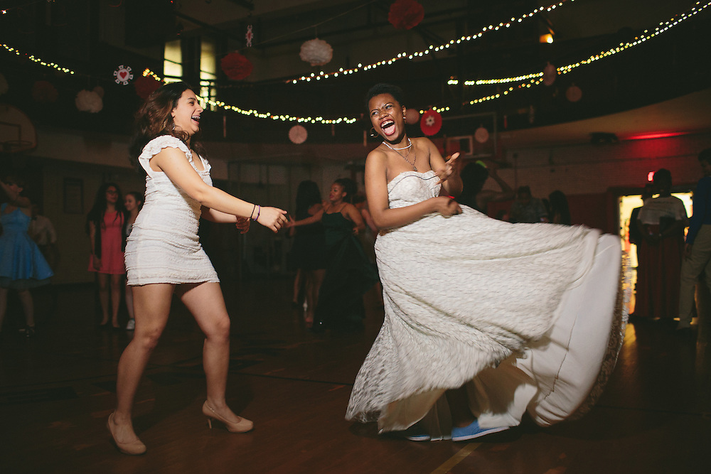 Best friends Daniela Canterero and Jack Smith, at right, dance during the Gay Straight Alliance prom. Smith, who is transitioning, wore a dress that his grandfather had given him before he died. &quot;It was a really safe space and seeing people that are non binary and cisgender was really great,&quot; Smith said.<br /> <br /> --<br /> <br /> Rites of Passage define our lives. They signify the progress of time as well as our citizenship in a tribe, in a culture &mdash; in life itself.<br /> <br /> Chicago commemorates these moments in ways that reflect its diversity, but through difference, we find commonality. We are all connected through these formal and informal ceremonies that remind us how much family, love and time shape us.