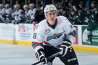 KELOWNA, CANADA - JANUARY 08: Tate Coughlin #18 of Kelowna Rockets skates against the Everett Silvertips on January 8, 2016 at Prospera Place in Kelowna, British Columbia, Canada.  (Photo by Marissa Baecker/Shoot the Breeze)  *** Local Caption *** Tate Coughlin;