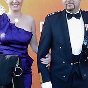 NLD/Katwijk/20120325 - 500ste Voorstelling musical Soldaat van Oranje, Marco Kroon en partner Mirjam van den Hoven