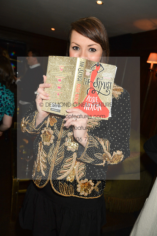 MARTINE McCUTCHEON at a party to celebrate the publication of The Stylist by Rosie Nixon held at Soho House, London on 10th February 2016.