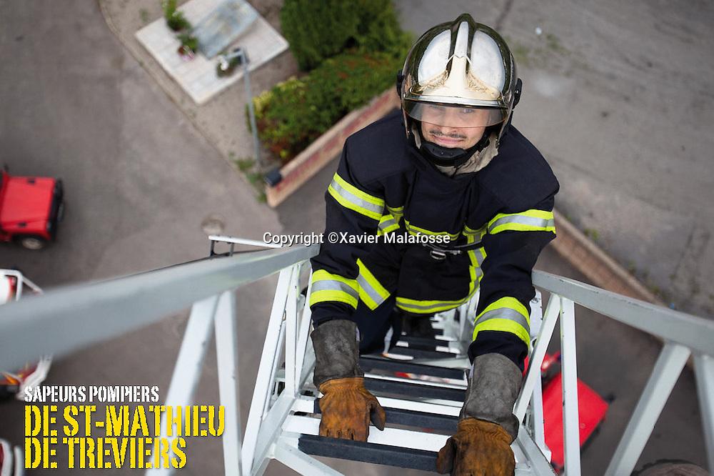 Caserne de pompiers de Saint Matthieu de Treviers, decembre 2011.