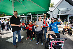 public overview during friendly match XerxesDZB v Excelsior, fans of Excelsior during the friendly match between XerxesDZB and Excelsior Rotterdam at Sportpark Faas Wilkes on july 15, 2017 in Rotterdam, the Netherlands