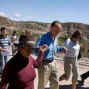 Congressman Luis Gutierrez and his wife Soraida, are welcomed to the village of Neque, near Ayacucho, where CARE is working to support community activities.  Microfinance programs use a proven community based group savings and loans methodology as an entry point to mobilize group members to address a wide range of constraints to the social and economic empowerment of marginalized women and girls. ..Women in the community have said that when they first joined the group their husbands didn't take much notice. Now they are working with their husbands to discuss loans and business plans and ways to help their families. The group meets monthly and provides support to each other both financially and by sharing their experiences with their individual businesses. ..Increasing access to financial services for the poor must be part of an integrated and holistic approach to community empowerment in order to effectively address maternal health. Such an approach acknowledges the deep inequities that shape health seeking behaviors and would marry supply and demand by strengthening health systems and service delivery on the one hand while building community pressure for quality care on the other. ..