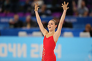 """Adelina Sotnikova (RUS), <br /> FEBRUARY 19, 2014 - Figure Skating : <br /> Women's Short Program <br /> at """"ICEBERG"""" Skating Palace <br /> during the Sochi 2014 Olympic Winter Games in Sochi, Russia. <br /> (Photo by Yohei Osada/AFLO SPORT)"""