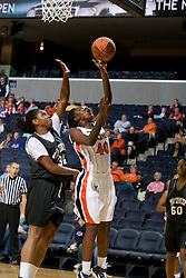 Virginia Cavaliers G Enonge Stovall (40) shoots a lay up.  The Virginia Cavaliers women's basketball team faced Team Concept in an exhibition basketball game at the John Paul Jones Arena in Charlottesville, VA on November 5, 2007.