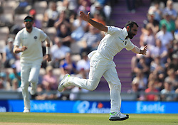 India's Mohammed Shami celebrates taking the wicket of England's Jonny Bairstow during day three of the fourth test at the AGEAS Bowl, Southampton.