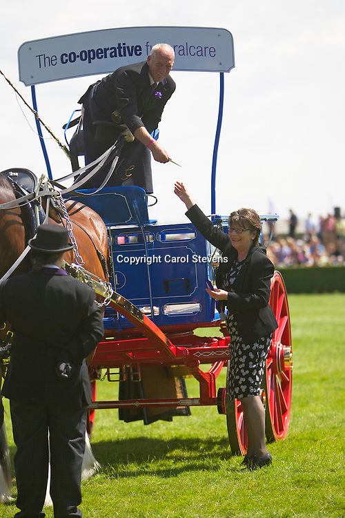 John Goodwin's Co-operative Funeralcare South Random Turnout Team<br /> Shire Horses<br /> 2nd Team Turnout Class