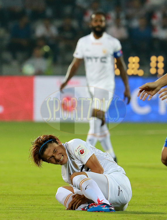 Katsumi Yusa of NorthEast United FC reacts during match 7 of the Indian Super League (ISL) season 3 between Mumbai City FC and NorthEast United FC held at the Mumbai Football Arena in Mumbai, India on the 7th October 2016.<br /> <br /> Photo by Vipin Pawar / ISL/ SPORTZPICS