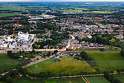 Nederland, Drenthe, Gemeente Midden-Drenthe, 30-06-2011; Beilen met Domo zuivelfabriek, onderdeel FrieslandCampina.(Friesland Foods) maakt melkpoeder, onder andere voor kindervoeding, creamers. .Dairy factory Domo in Beilen (N-E-Netherlands).luchtfoto (toeslag), aerial photo (additional fee required).copyright foto/photo Siebe Swart