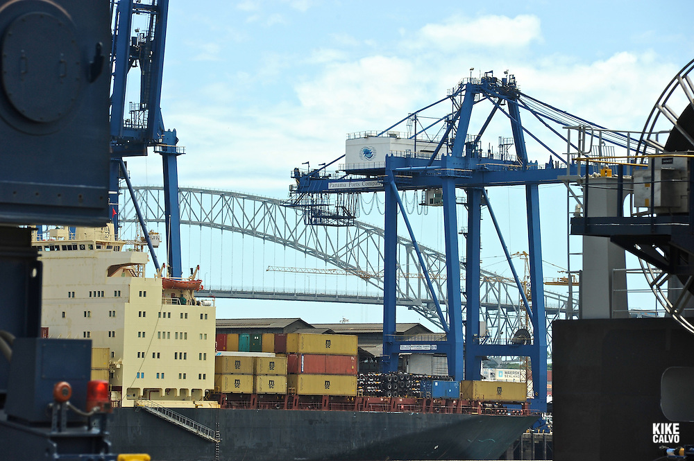 Panama is on its way to becoming the container trans-shipping center of Latin America and the Caribbean. The Port of Balboa, with a 2.44-kilometre quay, is operated by Panama Ports Company (PPC) - the Panama-based subsidiary of the HPH Group. It offers a one-stop shop for shipping lines, including  post-Panamax quay cranes, feeder container vessel, rubber-tyred gantry cranes and reachstackers.