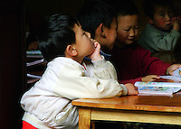 Hope. These children, found abandoned in rural China gather for classtime. Education being one of the most important elements to their survival.