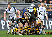 Wycombe, GREAT BRITAIN, Wasps' Mark ROBINSON, throws the ball our from the back of the scrum, during the first half of the Guinness Premiership match,  London Wasps vs Sale Sharks at Adam's Park Stadium, Bucks, on Sun 23.11.2008. [Photo, Peter Spurrier/Intersport-images]