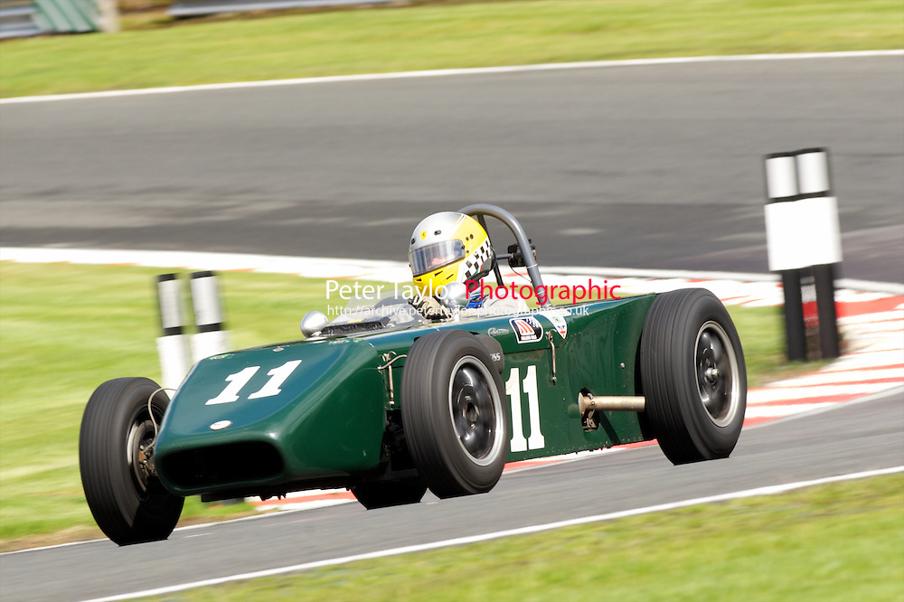 HSCC Gold Cup Oulton Park, Cheshire, United Kingdom.  28th-29th August 2011.  Race 2 HSCC/HFJRA JMW Front Engined Series. Historic Formula Junior Race A (Class A - B). 11 Brian Mitcham Mallock U2. World Copyright: Peter Taylor/PSP. Copy of publication required for printed pictures. Every used picture is fee-liable.
