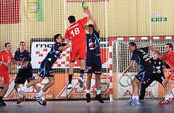Dino Bajram at handball match of 5th Round of qualifications for EHF Euro 2010 in Austria between National team of Slovenia vs Bulgaria, on November 30, 2008 in Velenje, Slovenia. (Photo by Vid Ponikvar / Sportida)
