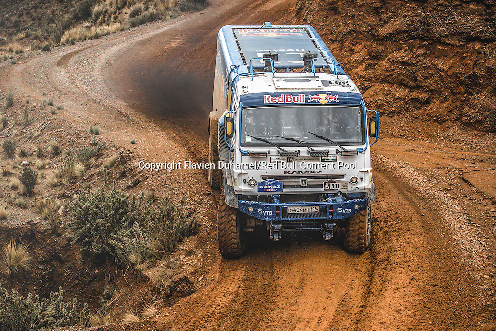 Airat Mardeev (RUS)  of KAMAZ - Master races during stage 5 of Rally Dakar 2017 from Tupiza to Oruro, Bolivia on January 6, 2017. // Flavien Duhamel/Red Bull Content Pool // P-20170106-00236 // Usage for editorial use only // Please go to www.redbullcontentpool.com for further information. //