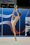 Vittoria Erba from Virtus Giussano team during the Italian Rhythmic Gymnastics Championship in Padova, 25 November 2017.