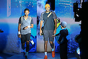 Raven Klassen and Rajeev Ram come to court during the doubles final of the Barclays ATP World Tour Finals at the O2 Arena, London, United Kingdom on 20 November 2016. Photo by Phil Duncan.