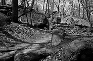 Rocky stairs in the North Woods of Central Park