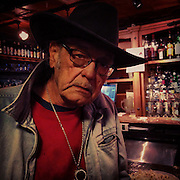 Portrait of Sawmill John. Shank House Saloon.
