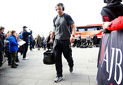 Matt Cox of Worcester Warriors arrives at the AJ Bell Stadium - Mandatory by-line: Matt McNulty/JMP - 24/03/2018 - RUGBY - AJ Bell Stadium - Manchester, England - Sale Sharks v Worcester Warriors - Aviva Premiership