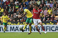 Cameron Jerome of Norwich has a shot on goal during the Sky Bet Championship match at Carrow Road, Norwich<br /> Picture by Paul Chesterton/Focus Images Ltd +44 7904 640267<br /> 23/09/2017