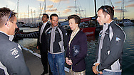 NEW ZEALAND, Auckland, 18th March 2010, HRH The Princess Royal visits the crew of TEAMORIGIN at the Louis Vuitton Trophy.
