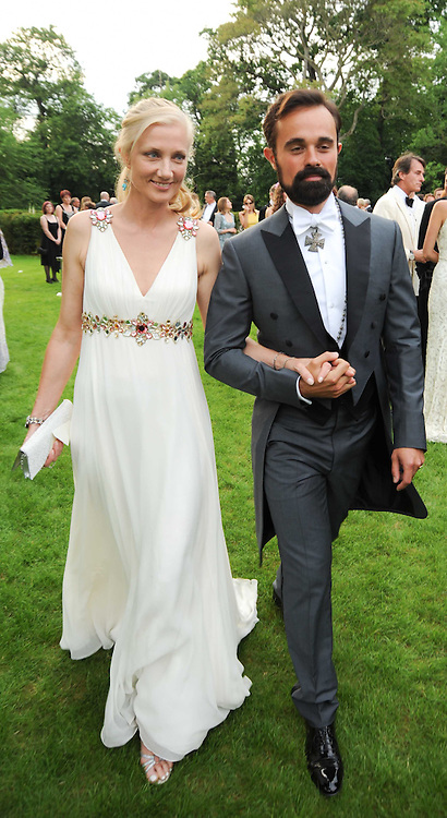 JOELY RICHARDSON and EVGENY LEBEDEV at the Raisa Gorbachev Foundation Party held at Stud House, Hampton Court Palace on 5th June 2010.  The night is in aid of the Raisa Gorbachev Foundation, an international fund fighting child cancer.