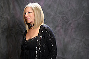 Barbra Streisand poses for a photo op at the Waldorf Astoria in midtown after giving a private concert at the Village Vanguard on Saturday night.  The Clintons were in attendance, as were Nicole Kidman and Donna Karan.