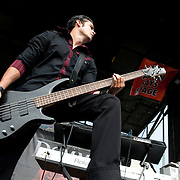 Dommin performing at Warped Tour 2009 in Ventura, California USA on June 28, 2009.