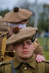 Sunday 7th May 2017 East Fortune:  Wartime Experience at the National Museum of Flight, East Fortune.  Enactors in the WW1 uniform of the Gordon Highlanders.<br /> <br /> (c) Andrew Wilson   Edinburgh Elite media