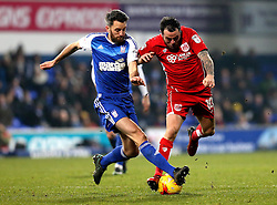 Lee Tomlin of Bristol City is tackled by Cole Skuse of Ipswich Town - Mandatory by-line: Robbie Stephenson/JMP - 30/12/2016 - FOOTBALL - Portman Road - Ipswich, England - Ipswich Town v Bristol City - Sky Bet Championship