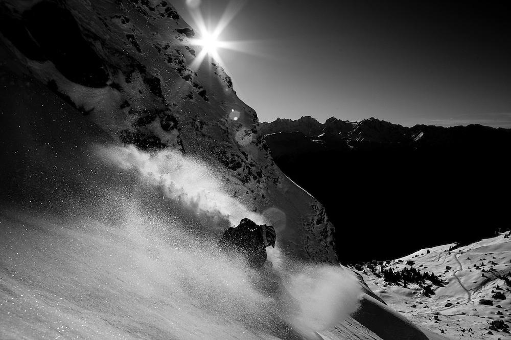 Rider:  J-Y Michellod.Location: Verbier (Switzerland)