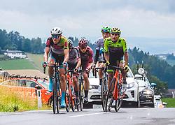 07.07.2019, Wels, AUT, Ö-Tour, Österreich Radrundfahrt, 1. Etappe, von Grieskirchen nach Freistadt (138,8 km), im Bild Matthias Brändle (AUT, Israel Cycling Academy) im Sprinttrikot, in der Ausreissergruppe // Matthias Brändle of Austria (Israel Cycling Academy) in the sprinter jersey during 1st stage from Grieskirchen to Freistadt (138,8 km) of the 2019 Tour of Austria. Wels, Austria on 2019/07/07. EXPA Pictures © 2019, PhotoCredit: EXPA/ Reinhard Eisenbauer