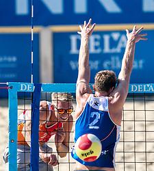 25-08-2019 NED: DELA NK Beach Volleyball, Scheveningen<br /> Last day NK Beachvolleyball / Stefan Boermans #2