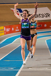 Britt Ummels in action on 3000 meter during the Dutch Indoor Athletics Championship on February 23, 2020 in Omnisport De Voorwaarts, Apeldoorn