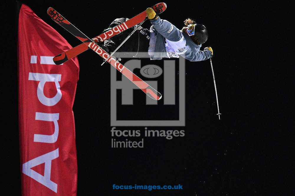 Mike Riddle (CAN) during the Men's Half Pipe Final on Day Eleven of the FIS Freestyle Ski &amp; Snowboard World Championships 2017 at Sierra Nevada Ski Station, Granada<br /> Picture by Kristian Kane/Focus Images Ltd +44 7814 482222<br /> 18/03/2017