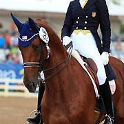 Heather Blitz and Paragon at the 2011 Pan American Games in Guadalajara, Mexico.