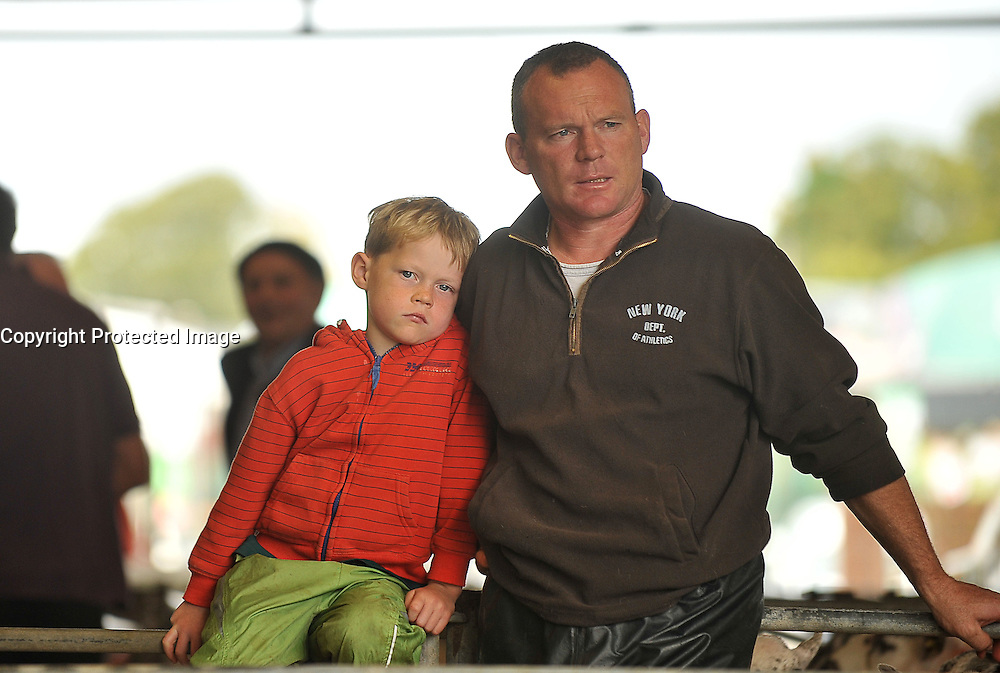 Father &amp; Son Michael and Ray Prendergast from Tourmakeady pictured at the Mayo Mule and Greyface Sheep Sale in Ballinrobe.<br /> Pic Conor McKeown