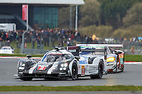 Romain Dumas (FRA) / Neel Jani (CHE) / Marc Lieb (DEU) #2 Porsche Team Porsche 919 Hybrid, during during the first hour or the race  as part of the WEC 6 Hours of Silverstone 2016 at Silverstone, Towcester, Northamptonshire, United Kingdom. April 17 2016. World Copyright Peter Taylor.