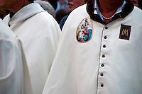 Lecce - Festeggiamenti in onore di Sant'Oronzo, San Giusto e San Fortunato. Le confraternite si preparano per la processione in onore di Sant'Oronzo, San Giusto e San Fortunato.