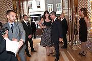 DAISY LOWE; YVES CARCELLE, Louis Vuitton openingof New Bond Street Maison. London. 25 May 2010. -DO NOT ARCHIVE-© Copyright Photograph by Dafydd Jones. 248 Clapham Rd. London SW9 0PZ. Tel 0207 820 0771. www.dafjones.com.