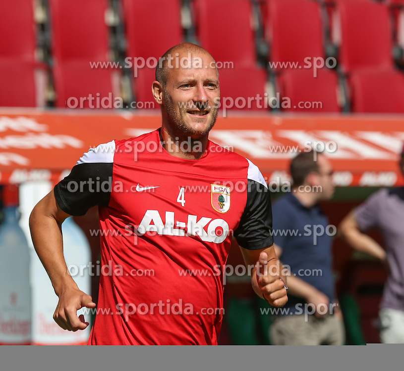 06.07.2014, SGL Arena, Augsburg, GER, 1. FBL, FC Augsburg, Training, im Bild Dominik Reinhardt (FC Augsburg #4), // during a Trainingssession of German Bundesliga Club FC Augsburg at the SGL Arena in Augsburg, Germany on 2014/07/06. EXPA Pictures &copy; 2014, PhotoCredit: EXPA/ Eibner-Pressefoto/ Krieger<br /> <br /> *****ATTENTION - OUT of GER*****