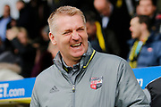 Brentford manager Dean Smith during the EFL Sky Bet Championship match between Burton Albion and Brentford at the Pirelli Stadium, Burton upon Trent, England on 18 March 2017. Photo by Richard Holmes.