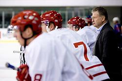 Coach of Denmark Per Backmann at ice-hockey friendly match between National teams of Slovenia and Denmark, on April 14, 2010, in Tivoli hall, Ljubljana, Slovenia. Denmark defeated Slovenia 5-3. (Photo by Vid Ponikvar / Sportida)