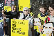 AI Raif Badawi protest